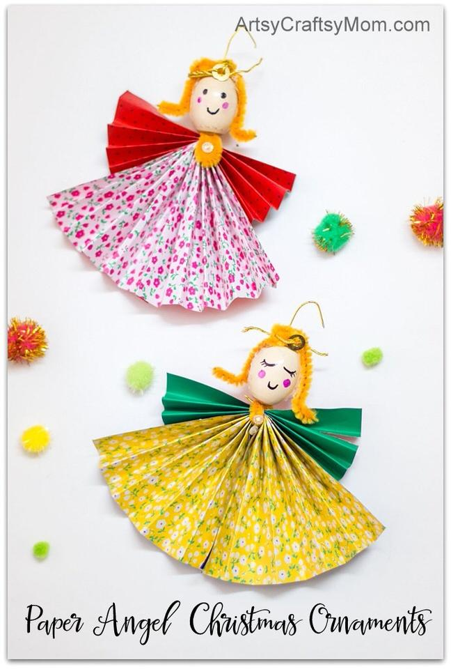 How to Make Paper Angel Christmas Ornaments - Artsy ...