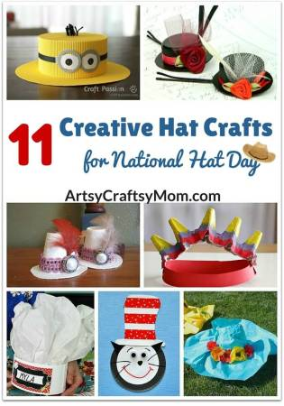 11 Creative Hat Crafts for National Hat Day