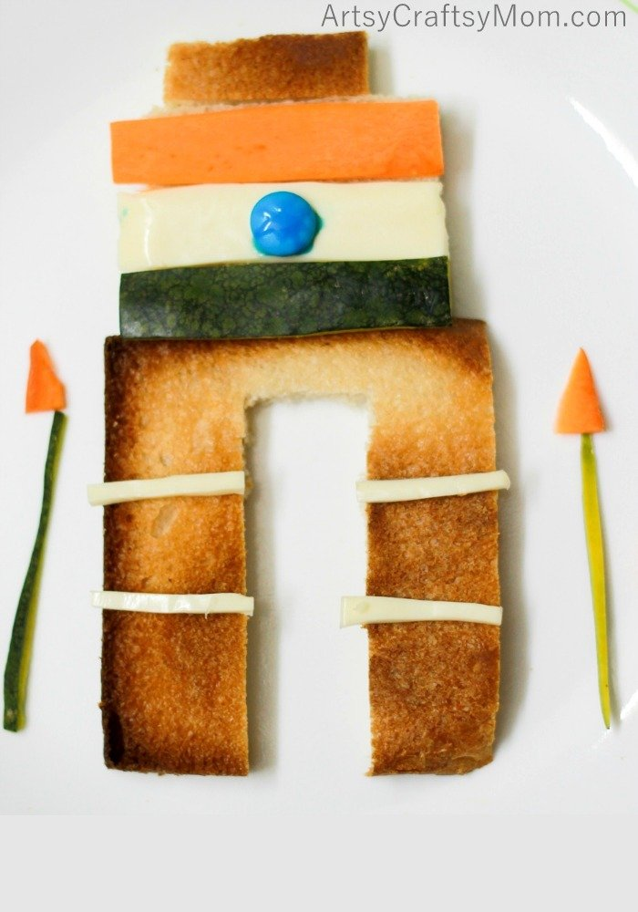 Make this fun Tricolor India Gate food art with your kids to celebrate republic day. Easy no cook, no bake instant snack for kids to make and eat