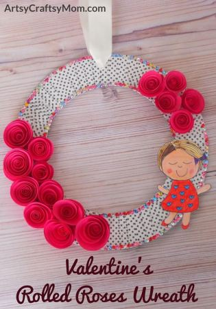 Valentine's Rolled Roses Wreath