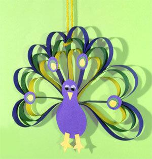 Simple Paper Craft Peacock