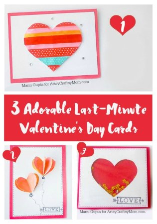 3 Adorable Last-Minute Valentine's Day Cards