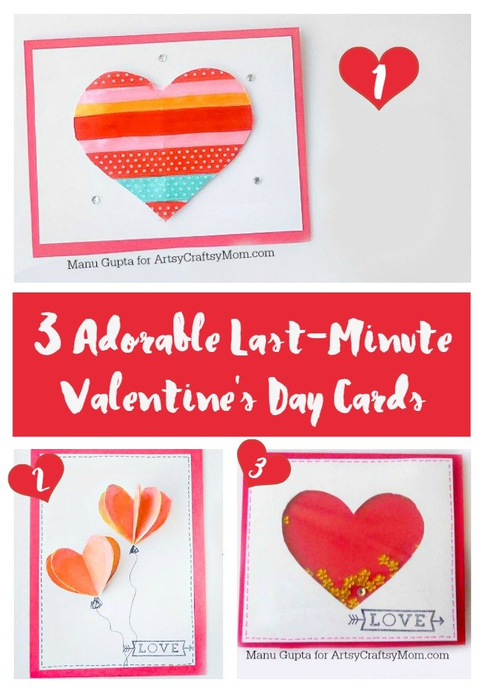 3 Adorable Last-Minute Valentine's Day Cards-1
