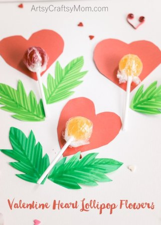 Valentine Heart Lollipop Flowers – Handmade gifts for kids