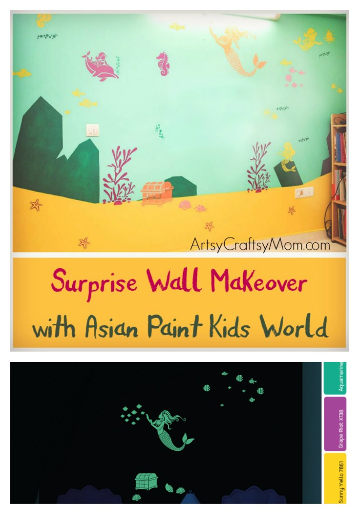 Surprise Wall Makeover with Asian Paints Kids World - Artsy Craftsy Mom