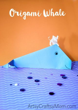Easy Origami Whale Craft for Kids