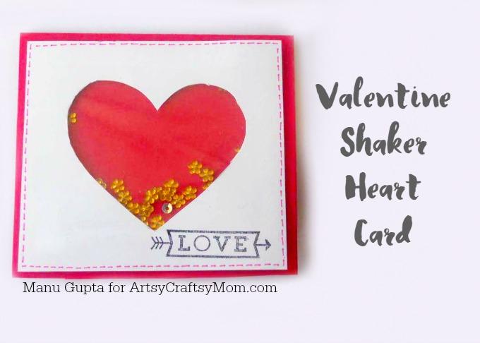 valentine heart shaker card