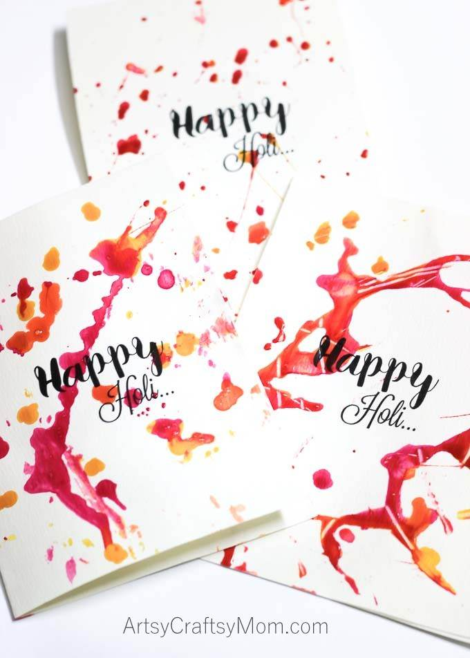 Colorful Paint Splatter Holi Card9