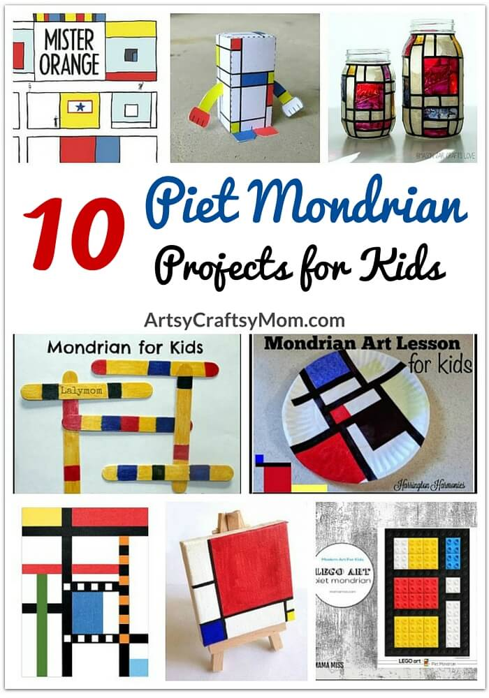 Piet Mondrian's work show us the importance of focusing on what's truly important. So here're 10 Piet Mondrian's projects for kids to get inspired from!