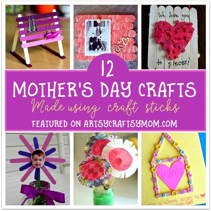 12 Mother 39 S Day Crafts To Make With Craft Sticks