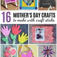16 Mother's Day Crafts to Make with Craft Sticks