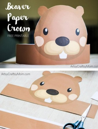 Beaver Paper Crown for National Beaver Day