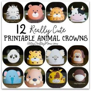 12 Printable animal crowns for kids1