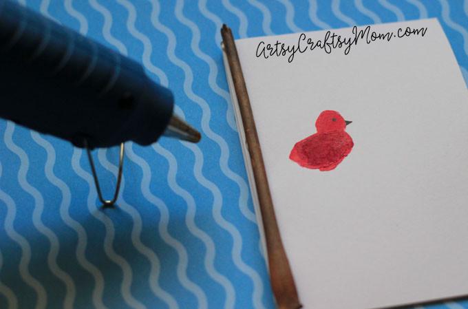 DIY Super Cute Fingerprint Bird Mother's Day Card-5