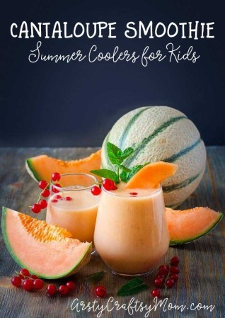 Healthy Cantaloupe Banana Smoothie