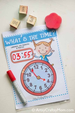 Learning about time – What's the time clock free printable