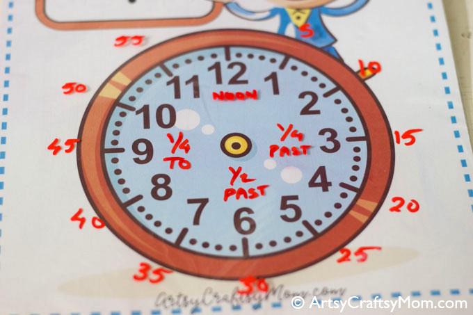printable analog clock