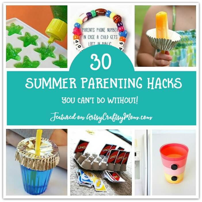 Spending summer with kids is fun, but it can get stressful too! Make life easier for everyone with these 30 summer parenting hacks that you're sure to love!