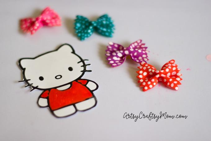 Hello Kitty Craft - Pasta Bookmarks-5