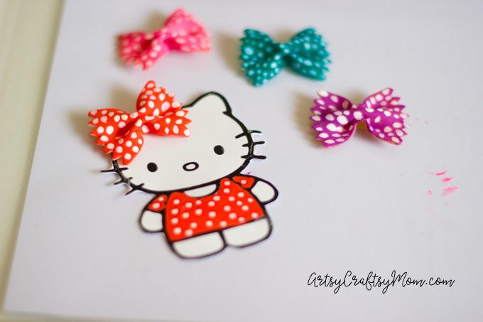 Hello Kitty Craft - Pasta Bookmarks-6