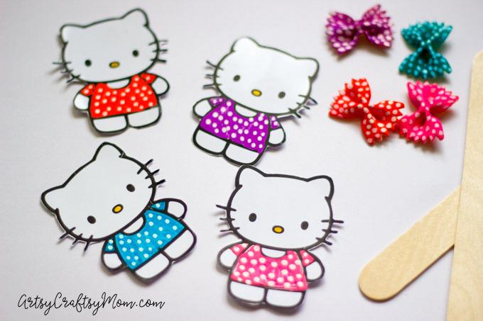 Hello Kitty Craft - Pasta Bookmarks-8