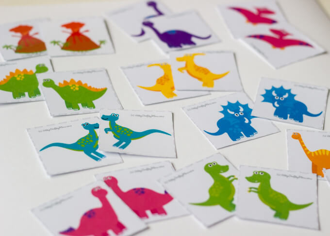 Dinosaur Mirror matching Memory Printable Game is a fun way to develop your child's memory! Be the fastest to match dinosaur eggs, mirror images & shadows .