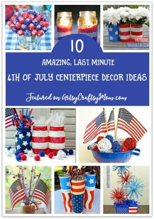If you're having a party on the 4th July, you most certainly need an attractive table! Make it pretty with any of these 4th of July Centerpiece Decor ideas!