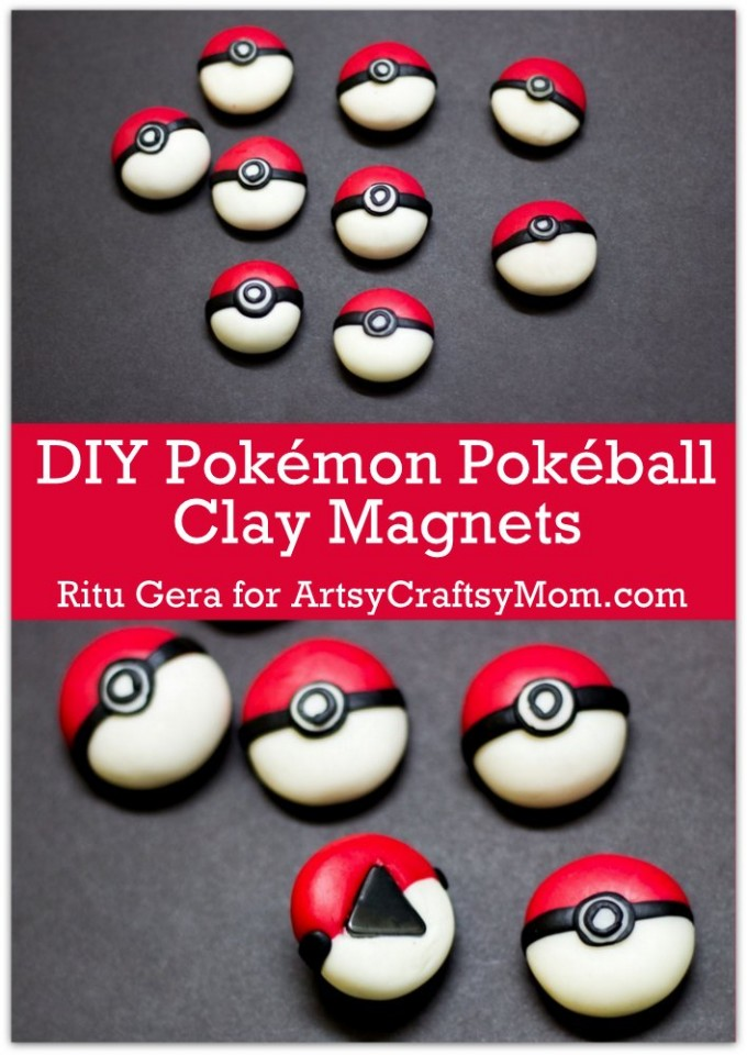 If you're a fan of Pokémon or know someone who is, then these DIY Pokémon Pokéball Clay Magnets are a must-make! Perfect to gift or keep for yourself!