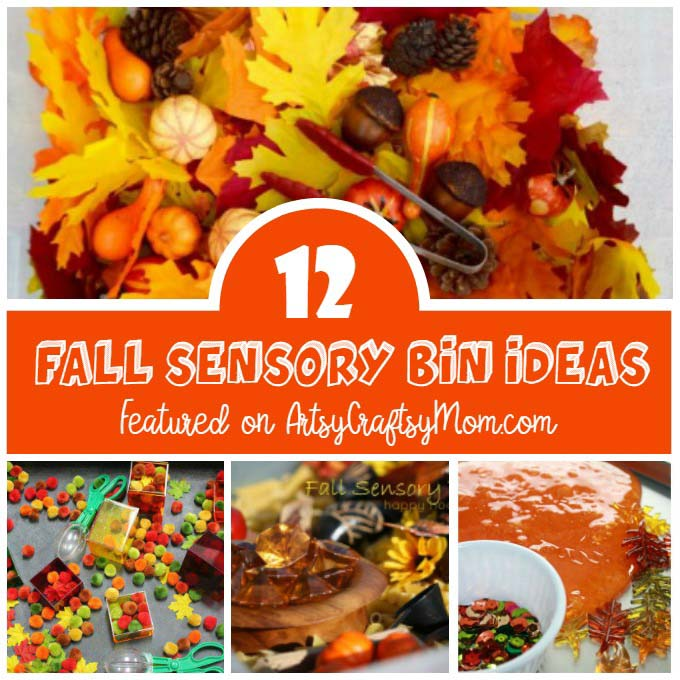 Make the most of fall with some fun fall sensory bin ideas for kids to touch, see, play and practice fine motor skills as they manipulate objects.