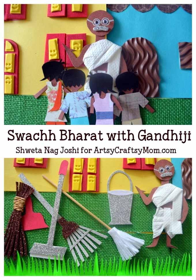 Gandhi Jayanti Crafts Video Amp Activities For Kids Artsy