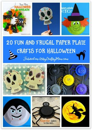 20 Fun and Frugal Paper Plate Crafts for Halloween