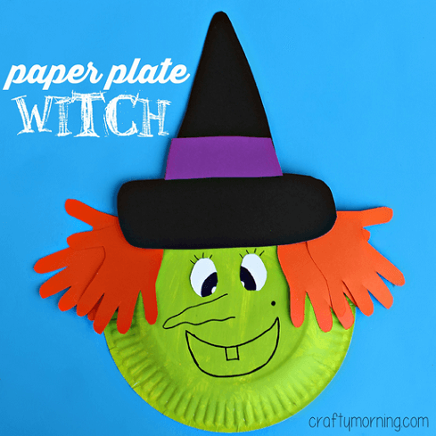 Make Halloween extra spooky this year with these 20 fun and frugal paper plate crafts that  sc 1 st  Artsy Craftsy Mom & 20 Fun and Frugal Paper Plate Crafts for Halloween