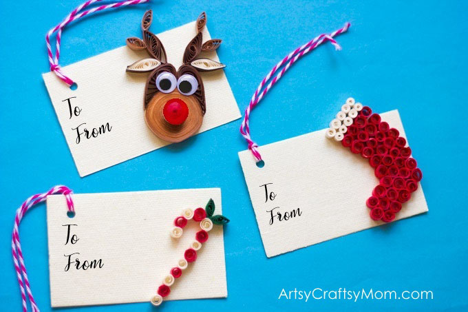 Christmas Gift Tags Diy.Diy Paper Quilling Christmas Gift Tags Artsycraftsymom