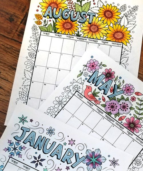 picture relating to Printable Coloring Calendar named 10 No cost Printable Calendar Internet pages for Young children