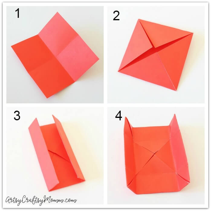 This DIY Origami Gift Box Is Perfect For Valentines Day Fill It With Small Gifts