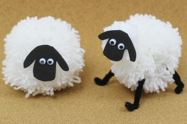 Crafty kids will love spinning yarn with these fuzzy pom pom craft projects