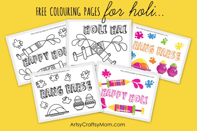 15 Amazingly Fun Holi Crafts and Activities for Kids - Artsy Craftsy Mom
