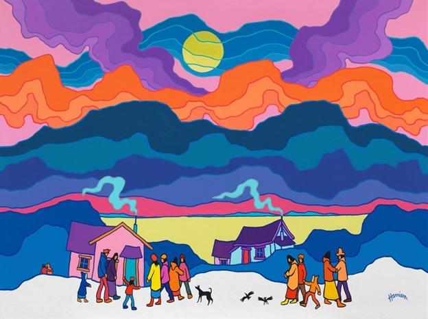 Northern Lights Art Kids