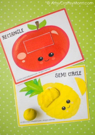 Printable Fruit Theme Shape Match