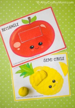 Printable Fruit Theme Shape Match
