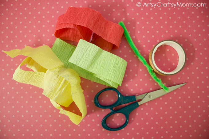 This Mother's Day surprise your mom with these DIY camelia like Handmade Crepe Paper Flower Cards!