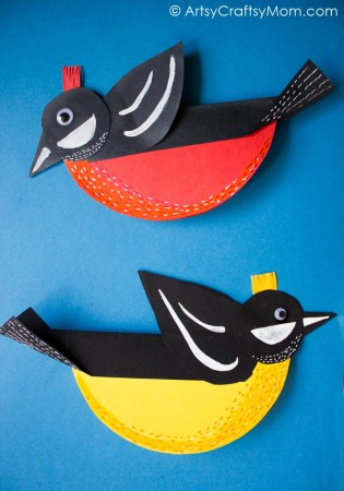 Rocking Spring Bird Paper Craft – Video Tutorial