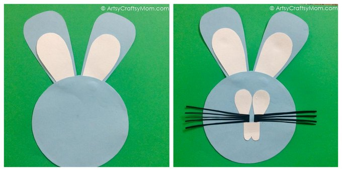 This Easy Easter Bunny Paper Craft is fun for kids of all ages. You can use the Easter Bunnies to decorate your house or classroom, as large puppets (attach a wooden spoon to the back with strong sticky tape), or as masks.