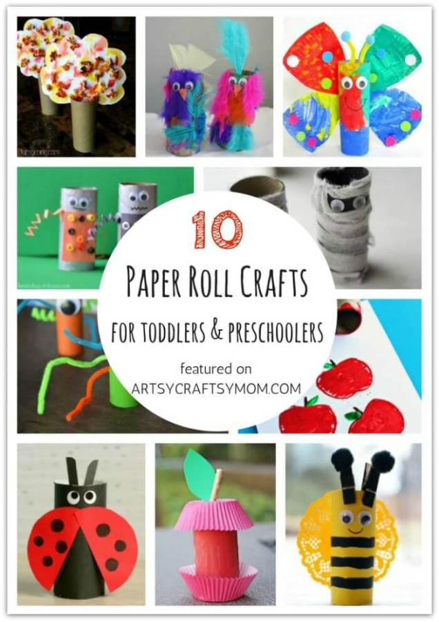 Don't let little kids feel left out when crafting! Here are 10 paper roll crafts for toddlers and preschoolers, designed specifically for them!
