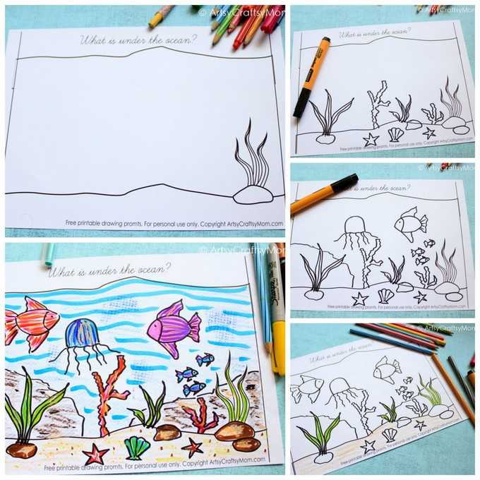 graphic about Free Printable Scenery called Totally free Printable Surroundings Drawing Prompts in direction of Spark Youngsters Creativeness