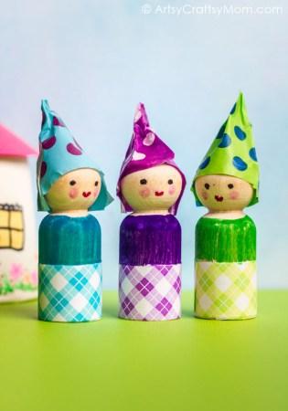 DIY Wooden Peg Doll Waldorf Gnomes for Imaginative Play