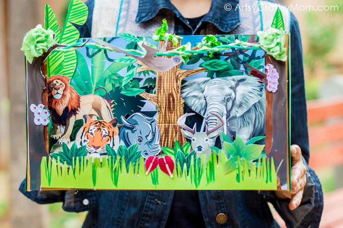 picture about Diorama Backgrounds Free Printable named Do it yourself Forest Diorama Faculty Undertaking with Epson InkTank Printer