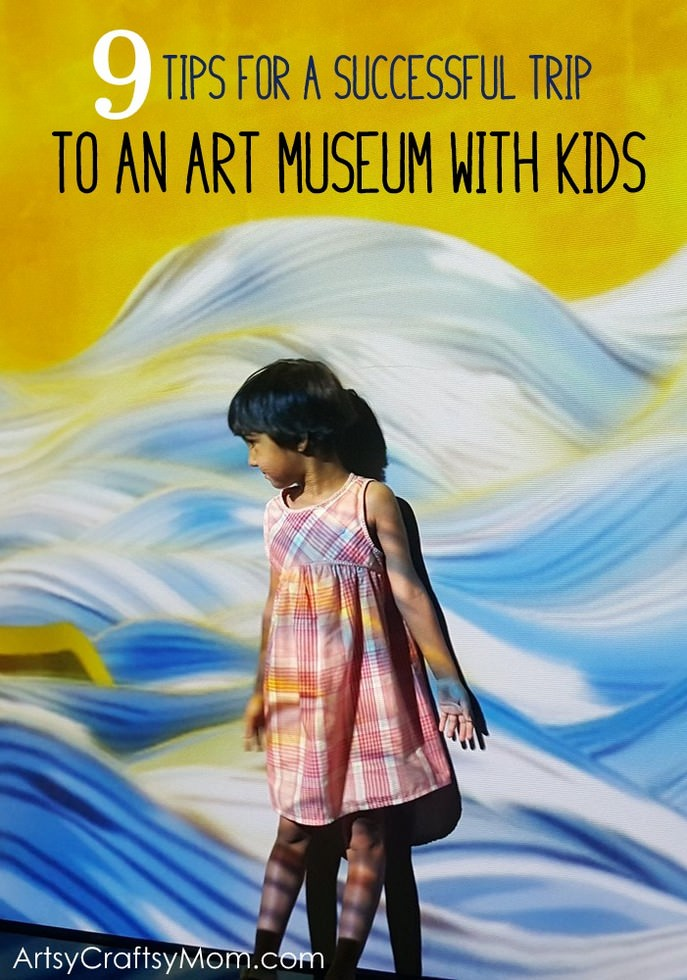 Visiting an art museum with kids doesn't have to be a chore; here are 9 simple tips to make the visit an interactive and interesting session for everyone.