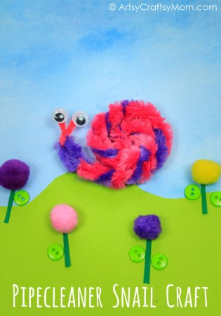 How to Make a Pipe Cleaner Snail Kids Craft
