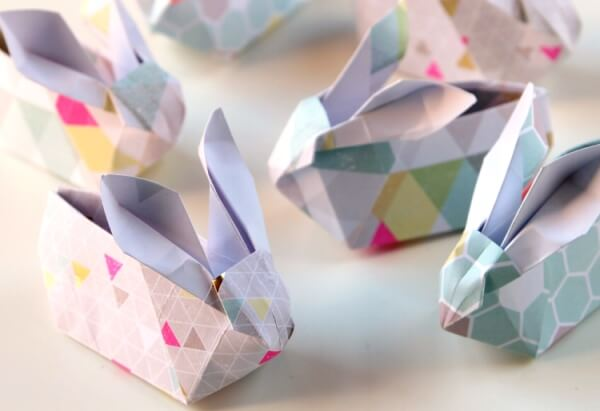 Origami Easter Basket Crafts For Kids